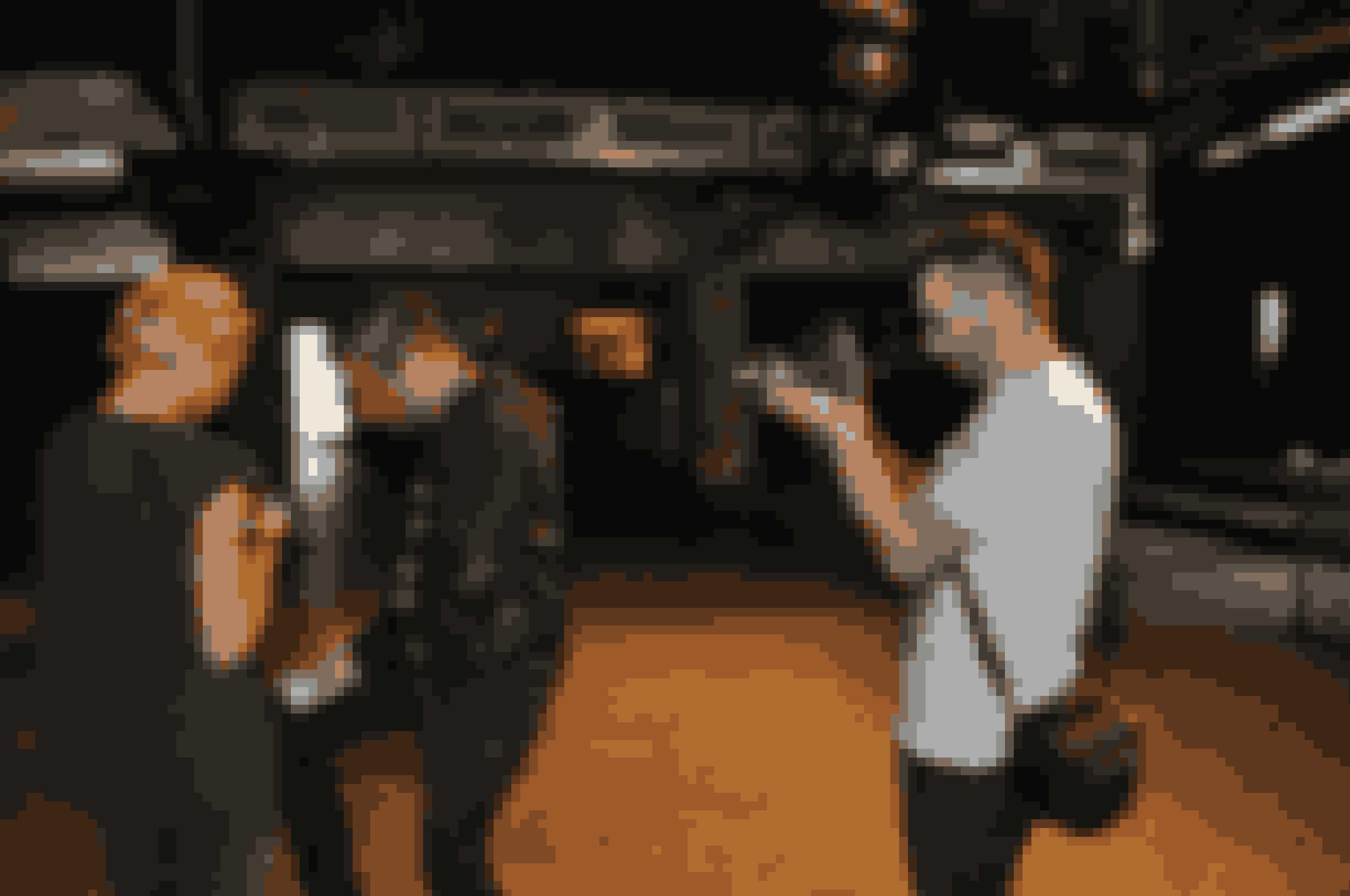 Medina havde også en videofotograf i hælene...