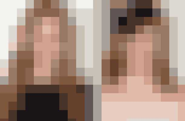 De to brunetter har begge en kraftig kæbelinie, en tydelig hage, brune øjne og store læber, og når de er stylet ens, kan det være svært at se forskel.  Se Emily Blunts dobbeltgænger på næste side ...