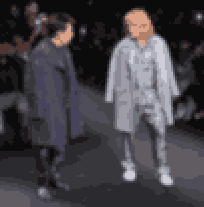 Ben Stiller og Owen Wilson til Valentinos show.