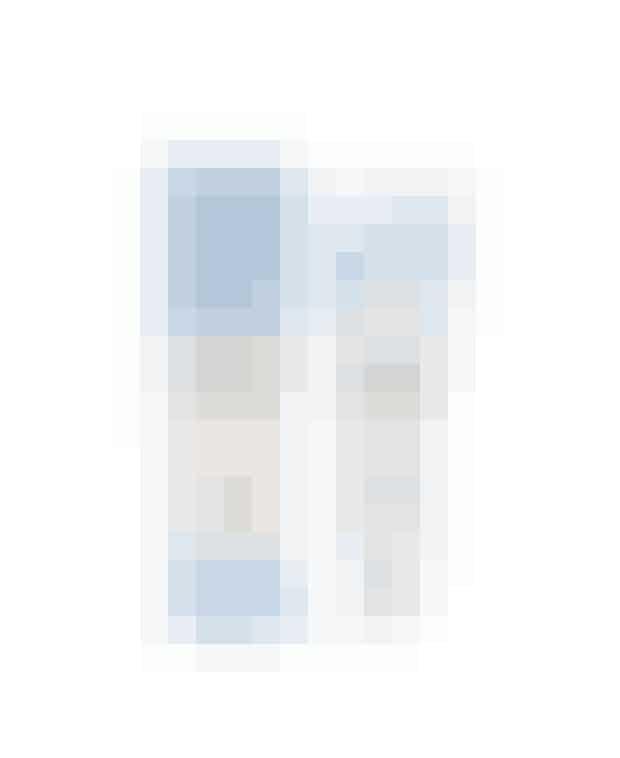 Blue paint, face mask, 129 kroner