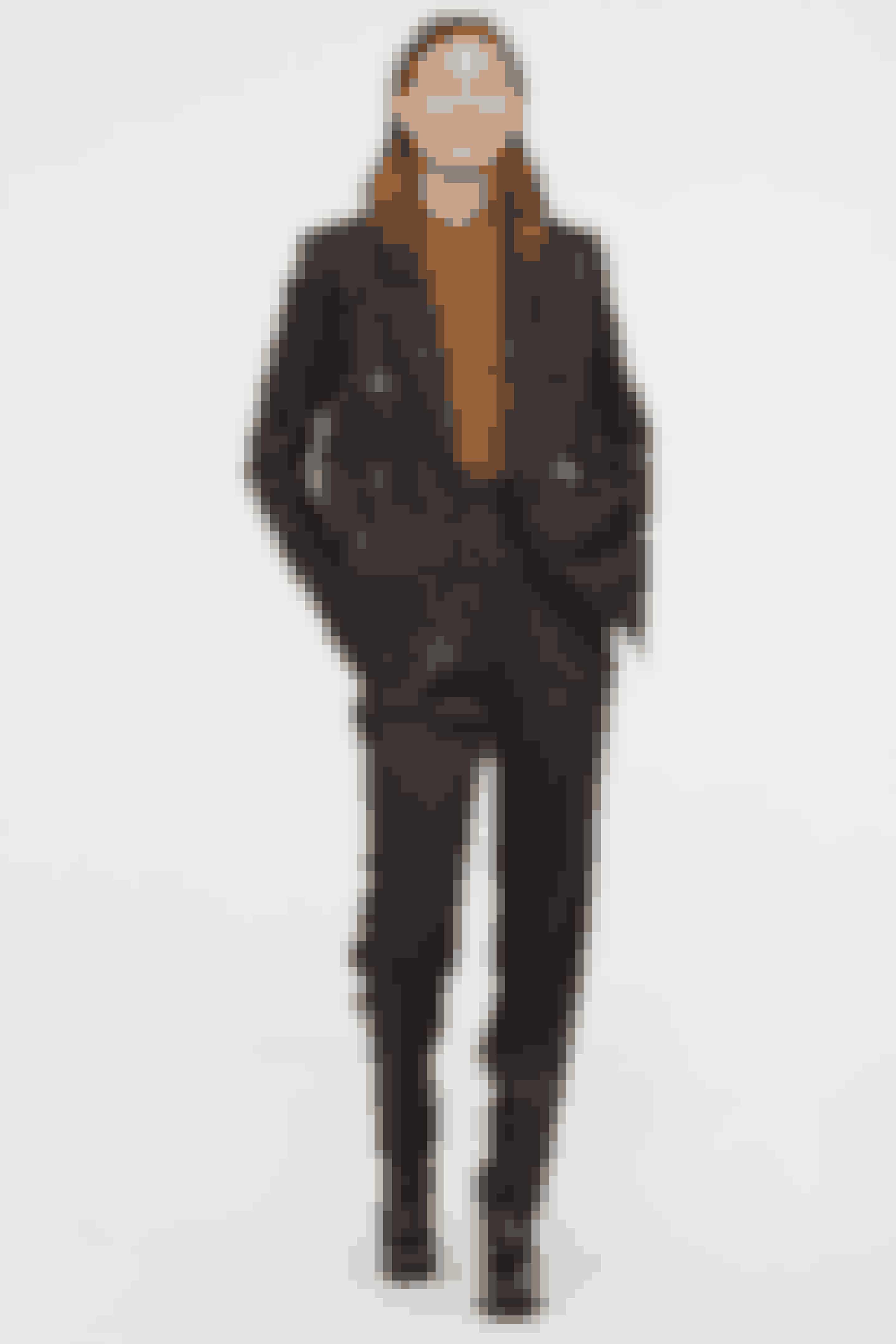 Mønstret dobbeltradet blazer, 399 kr.Mønstrede bukser, 349 kr. H&M.