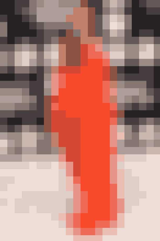 Beyoncés skønne glød kan bære de fleste farver, men især denne orange står skønt til kuløren.