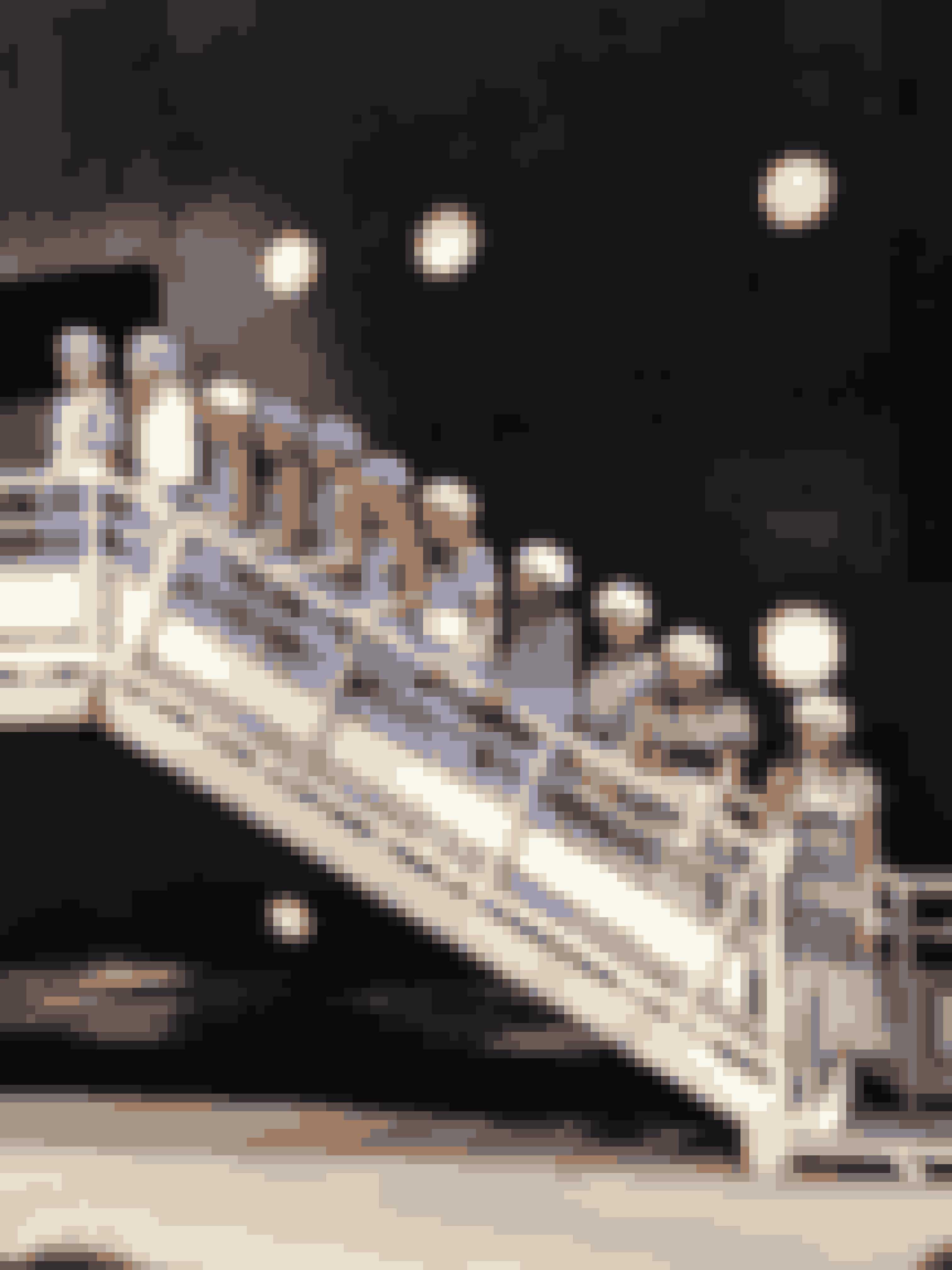 Afslutningsvis stillede alle modellerne op på en trappe placeret lige foran os, hvilket gav et flot indblik i den maritime 'feel' på kollektionen.