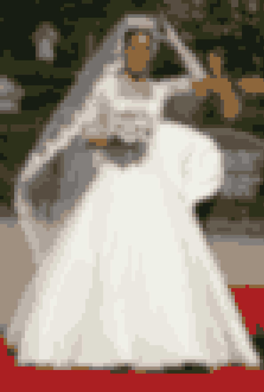 Prinsesse Marie iført kjole af David Arasa og Claudio for Arasa Morelli ved sit bryllup med prins Joachim, 2008.
