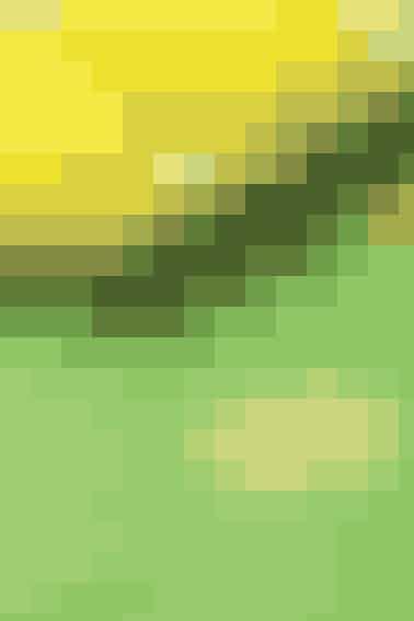 Den ternede dug med gule blomster er fin som påskedug, men kan også sagtens bruges senere som sommerdug ude og inde - se opskrift her