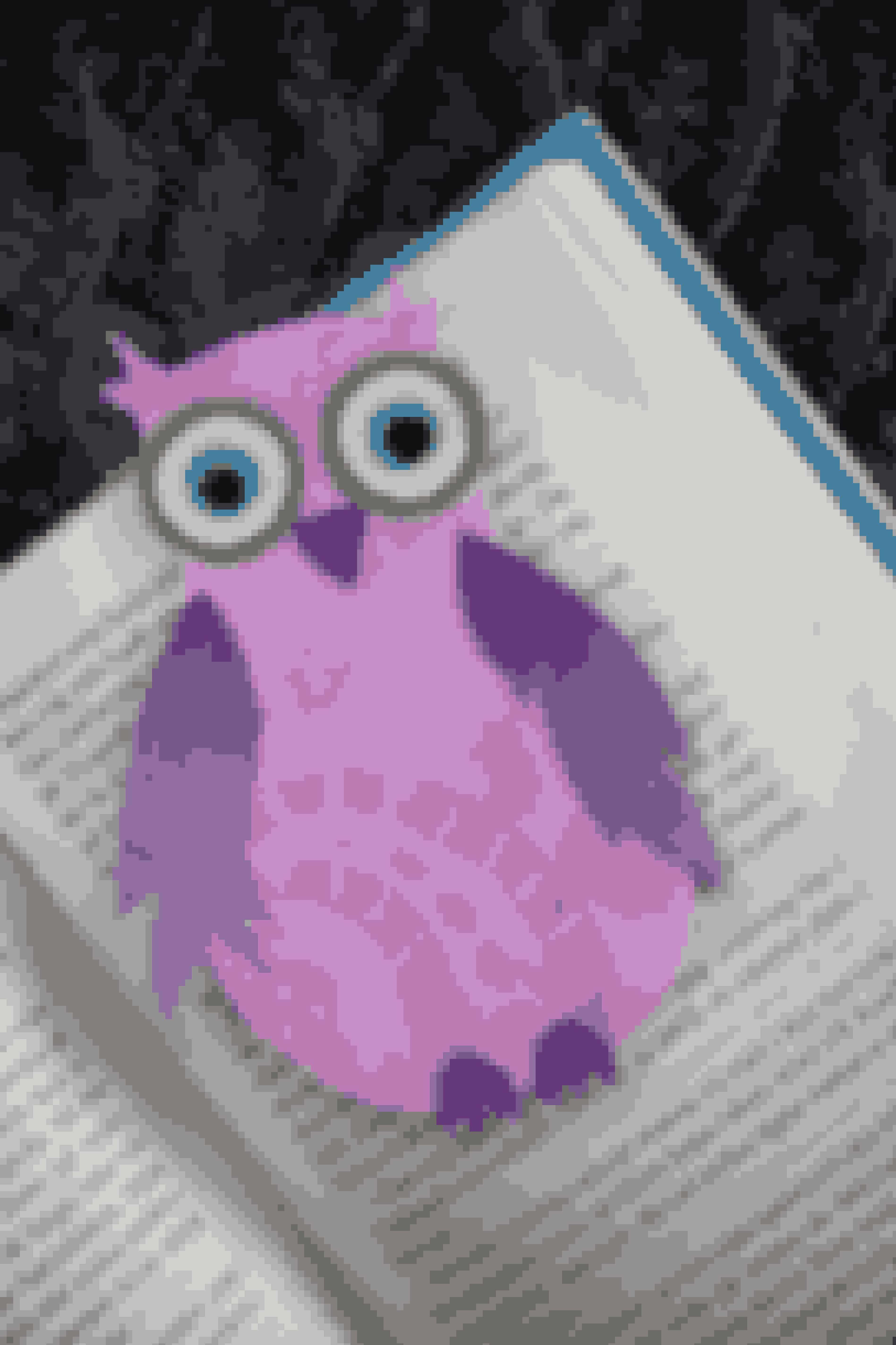Lav et fint bogmærke formet som en ugle eller et sødt ugle-postkort - se opskriften her
