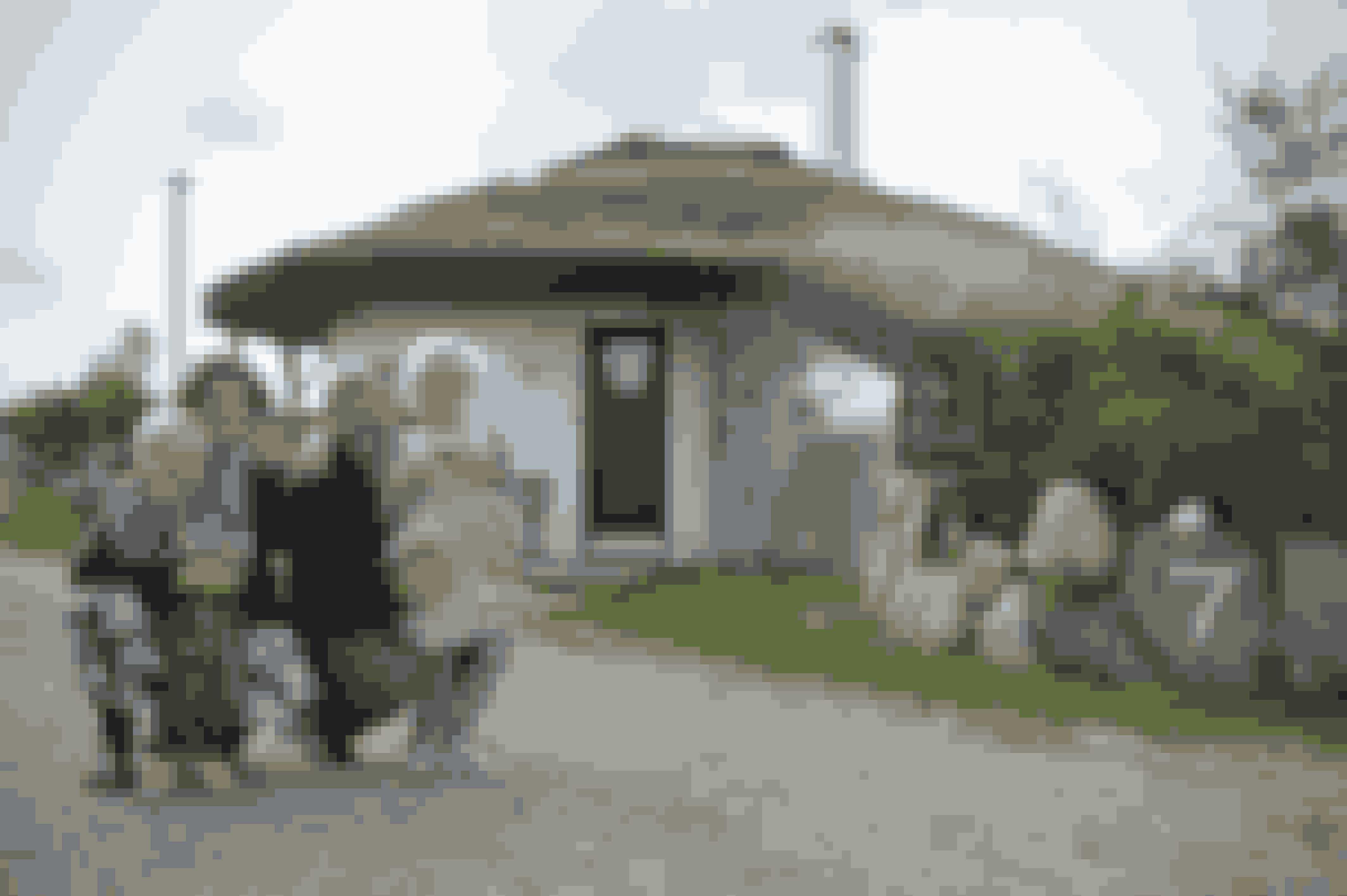 Familien foran deres hus - nr. 7 i Fri og fro.
