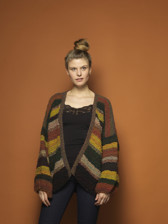 Strikkeopskrift: Stribet jakke | Familie Journal