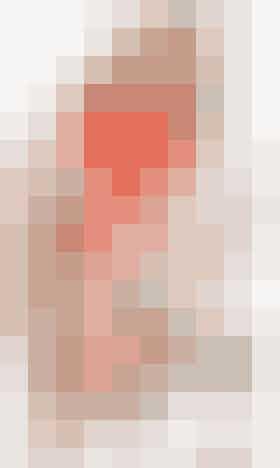 Retstrikket sjal i dobbelt garn, tråde i pink og orange
