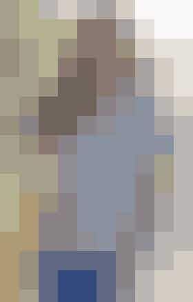 Blød og rummelig striktop i silke og bomuld