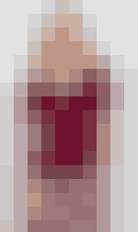 Strikket, vinrød bluse