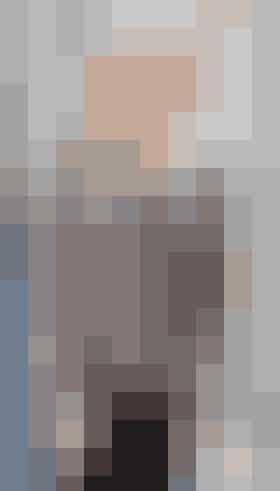 Strikket cardigan med rudemønster