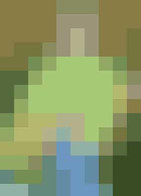 Strikket poncho af firkanter