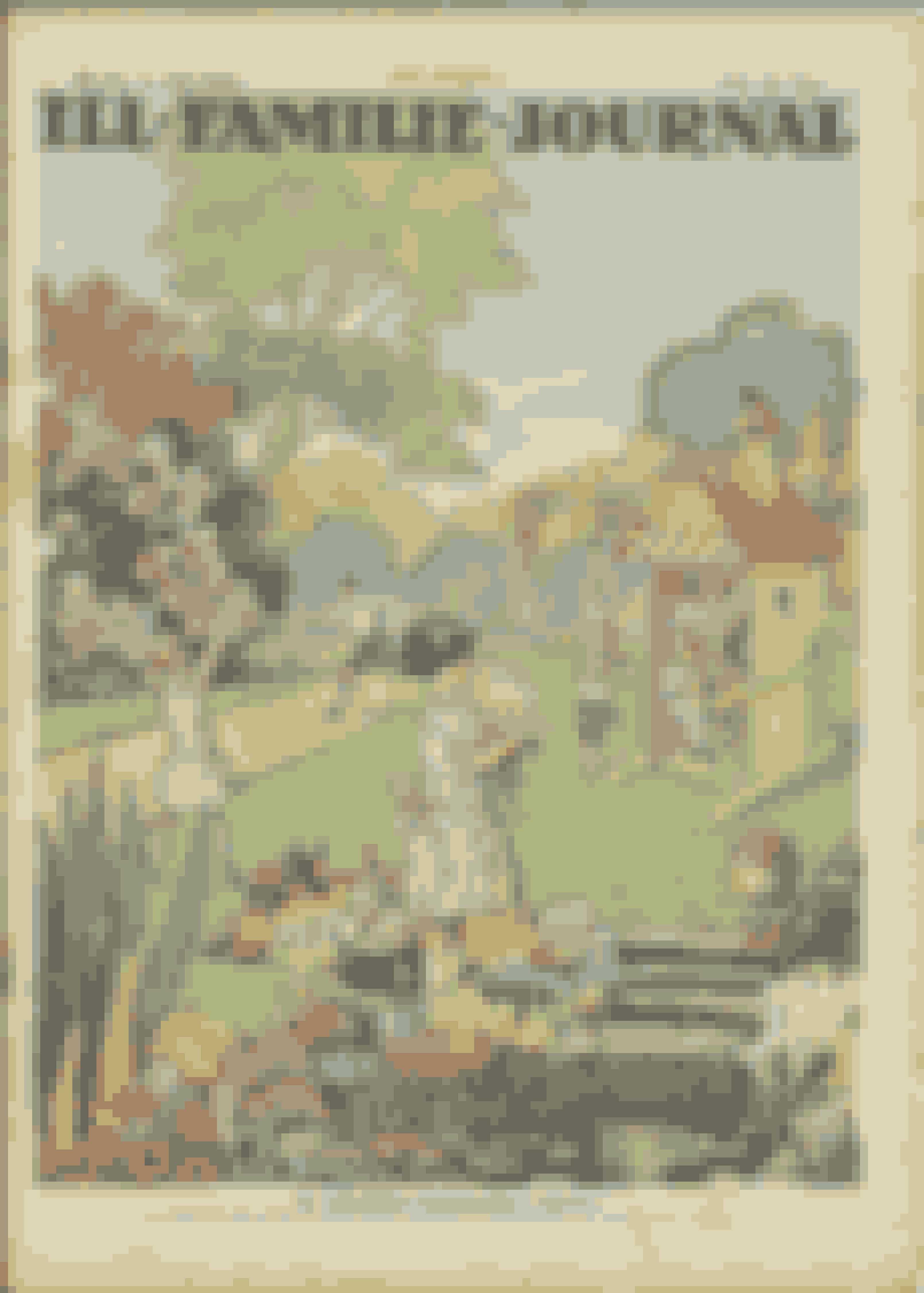 ...er titlen på denne idylliske forside med lutter artige børn, der binder buketter og triller med tøndebånd uden at snavse tøjet til.