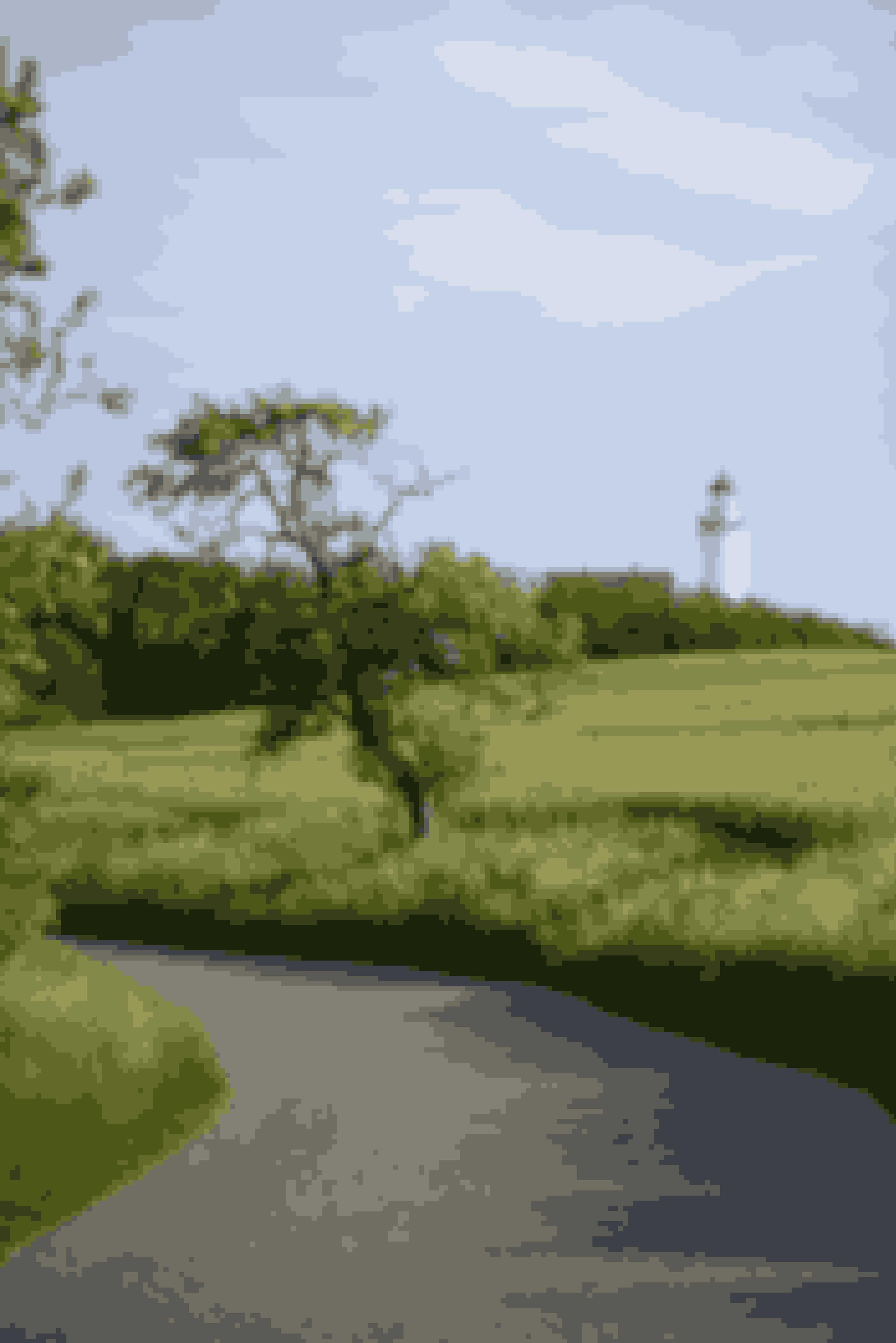 På toppen af Vesborg Fyr er der blæsende - og en fantastisk udsigt ...