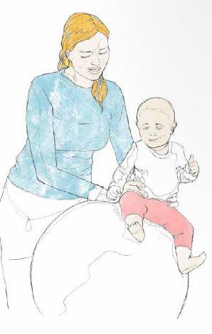 Babys udvikling   Ligge, kravle gå, sådan kommer baby op at
