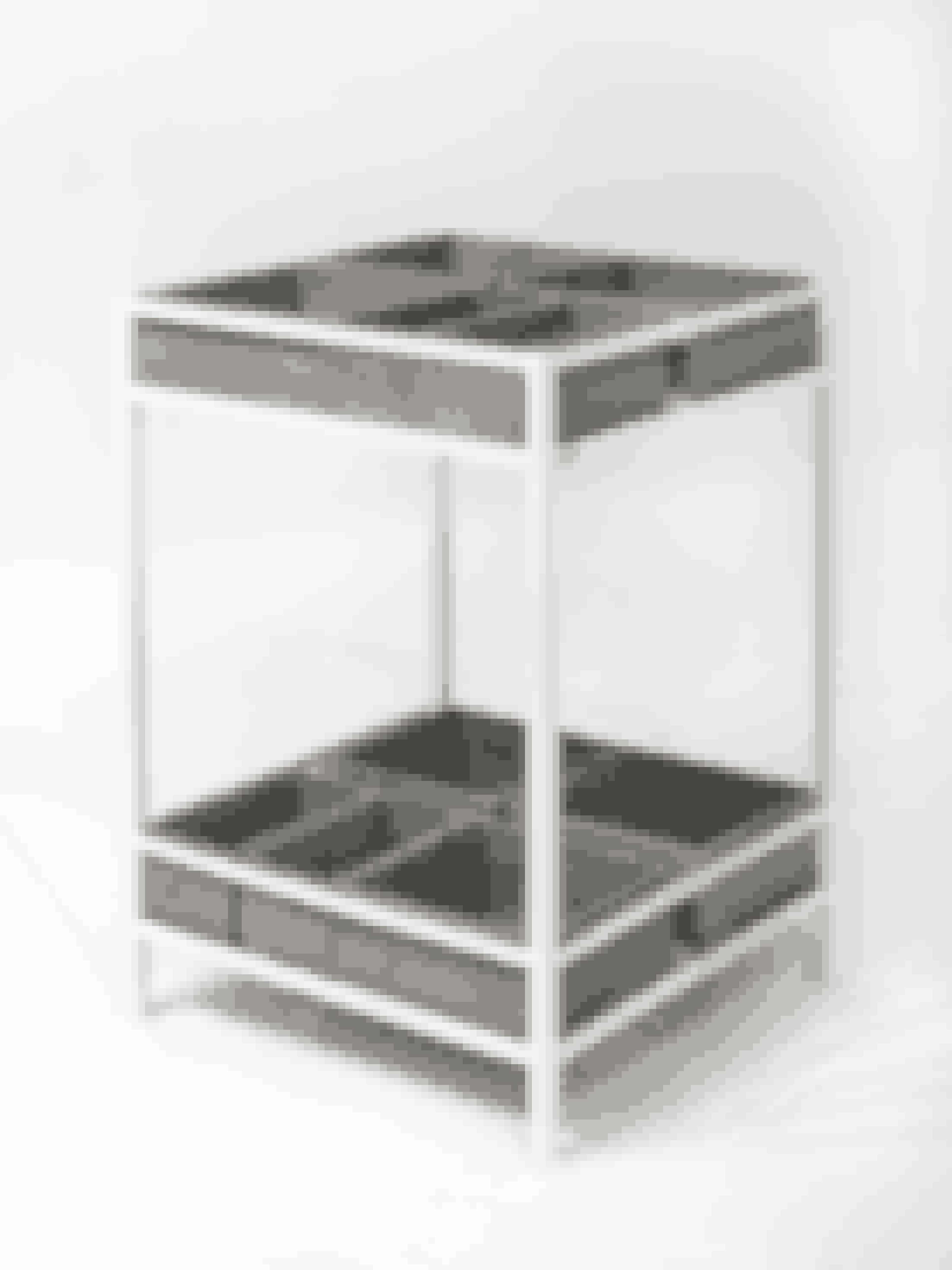 Plantebord, Herb Table, to etager med betonbokse til dine planter og krydderurter. 3.749 kr., cementpotter kan købes separat for 169 kr. Designdelicatessen.