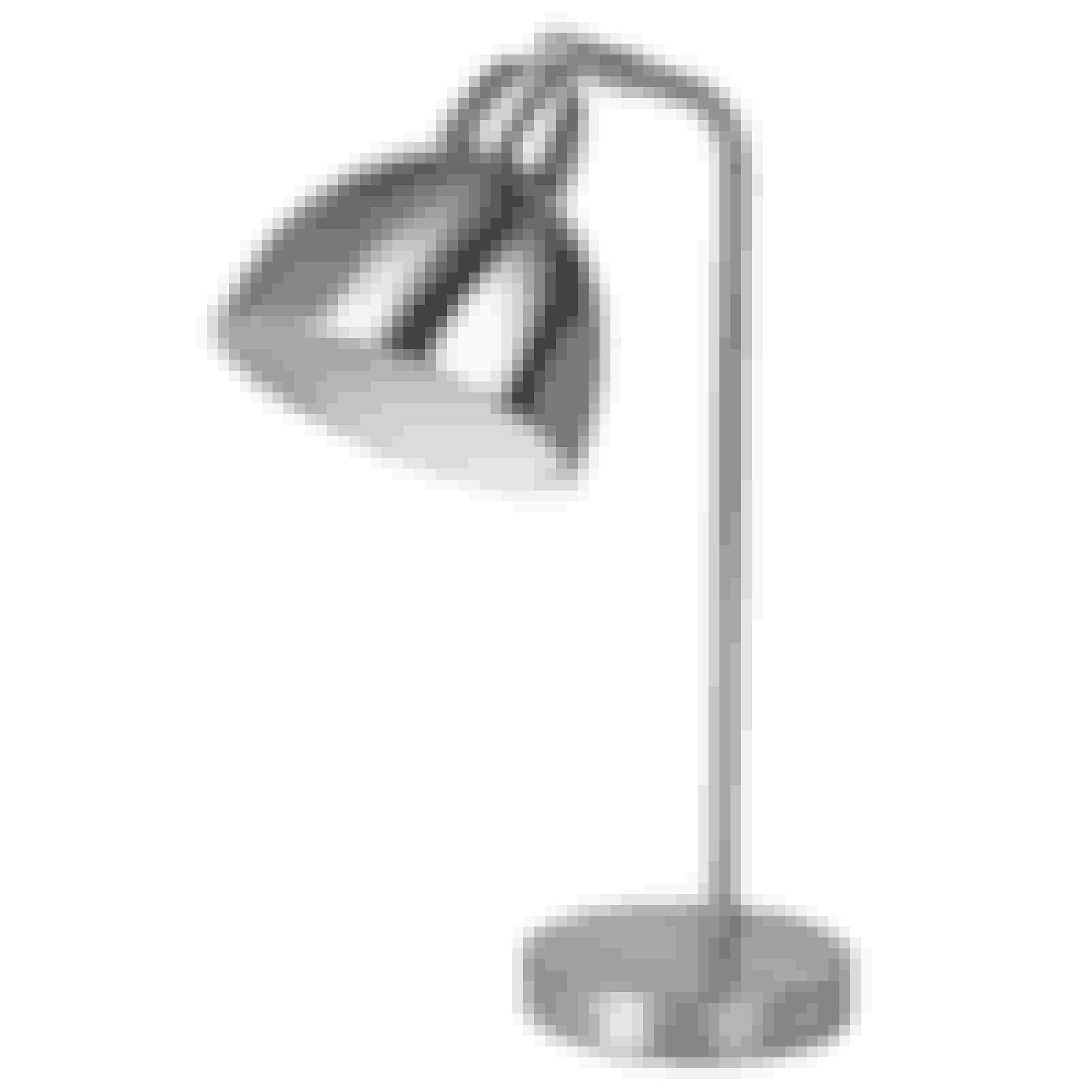 Bordlampe med sølvlook, h 38 cm, diam. 38 cm,739 kr. Broste Copenhagen.