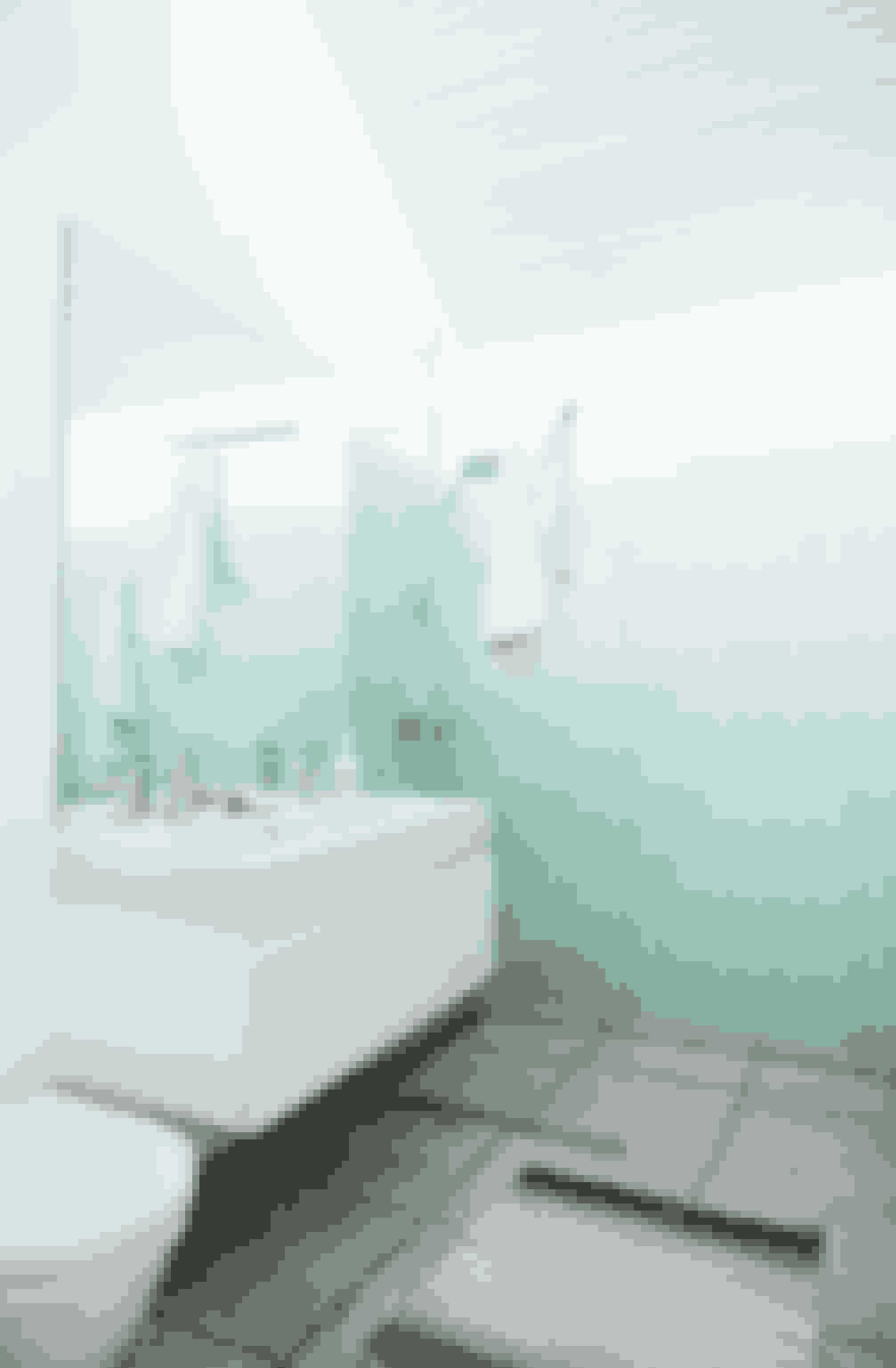 Kolde farver er gode på et badeværelse, hvis du gerne vil udstråle ro og renhed.