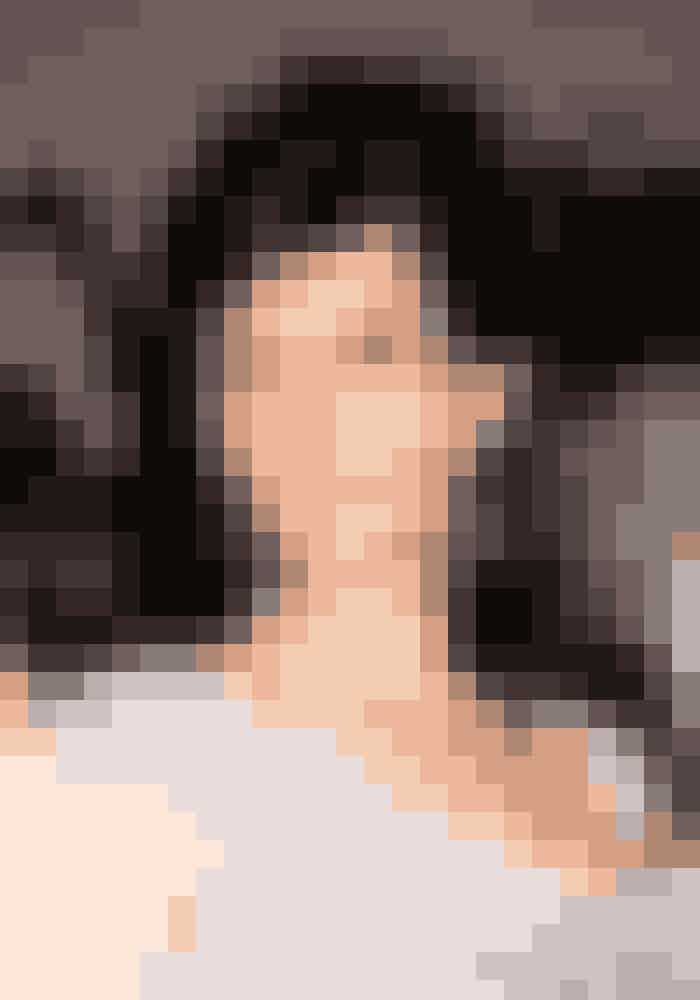 Helt mørkt hår til prisuddeling i 2008.
