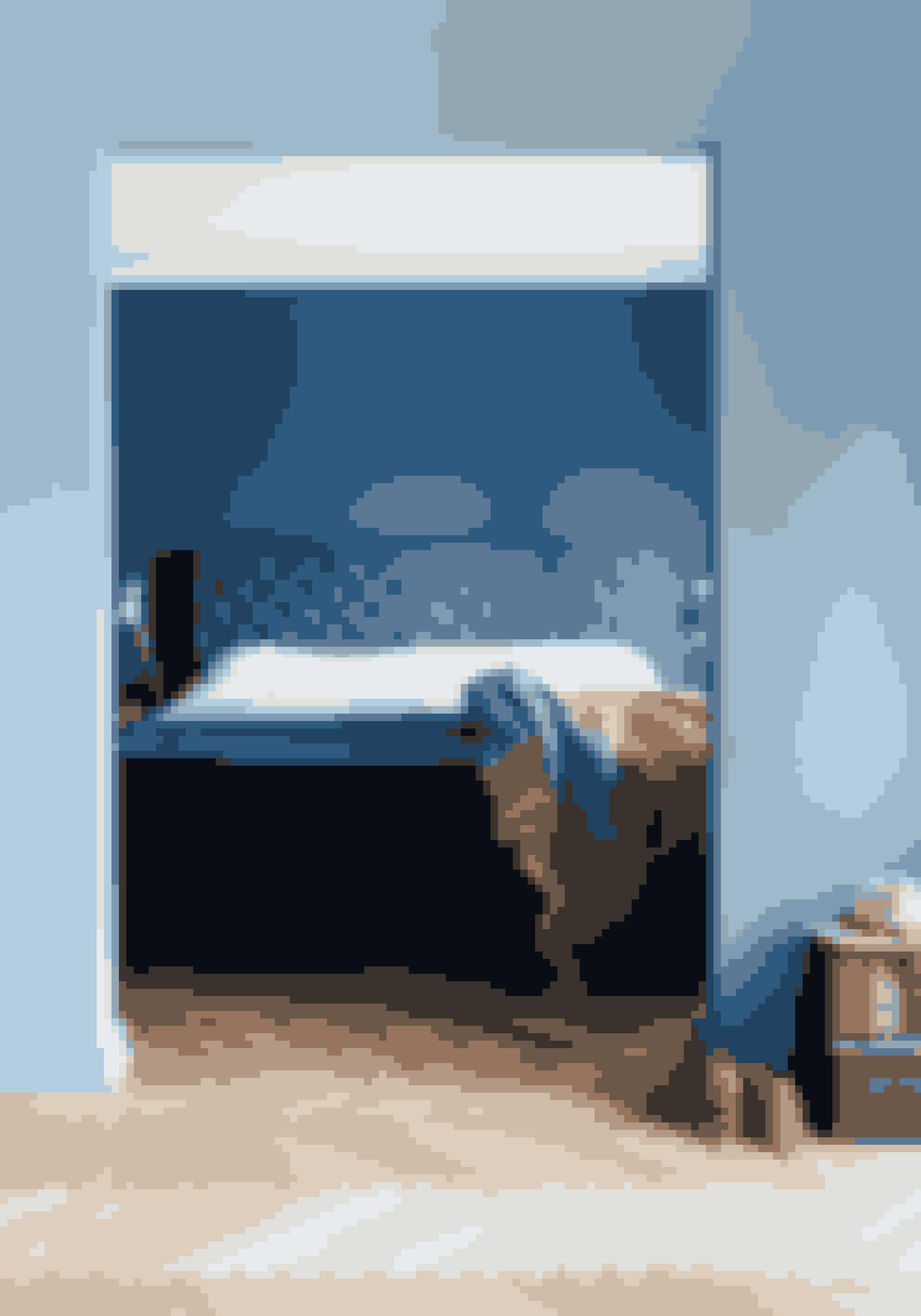 Farver kan sagtens virke rolige i et soveværelse, hvis du holder dem tone-i-tone og undlader at lade dine nips flytte ind. Plaiden er fra Beau Marché.