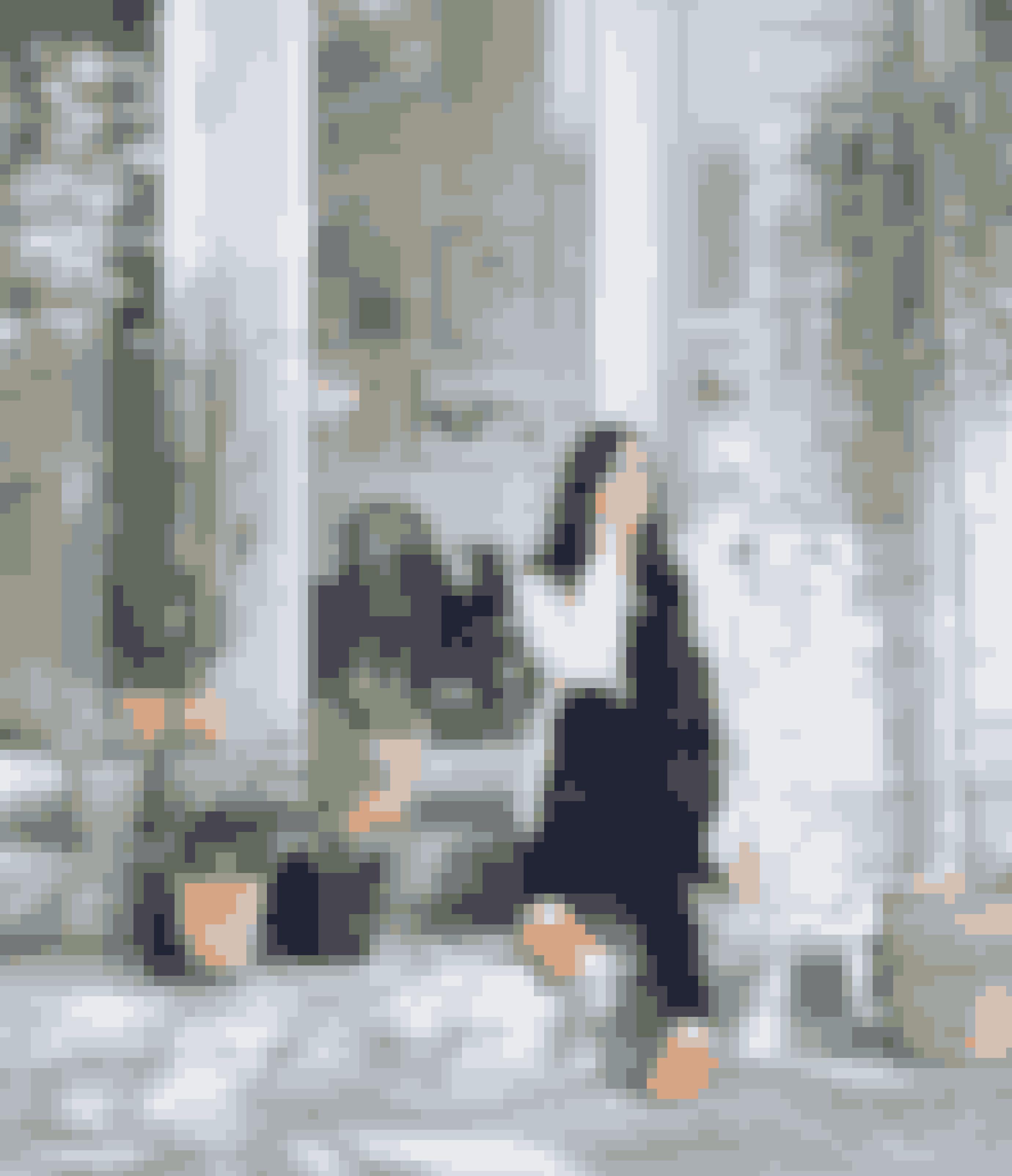 Her bor:Kristian Eriksen, tømrermester, men arbejder som lærer og Hilde Eriksen, kommunalt ansat inden for kunst og kultur.Bolig:Gammel træhytte og ny tilbygning påi alt 230 m² ved Askerud i Norge.Stil:Naturlig og nordisk medhjemmelavede løsninger