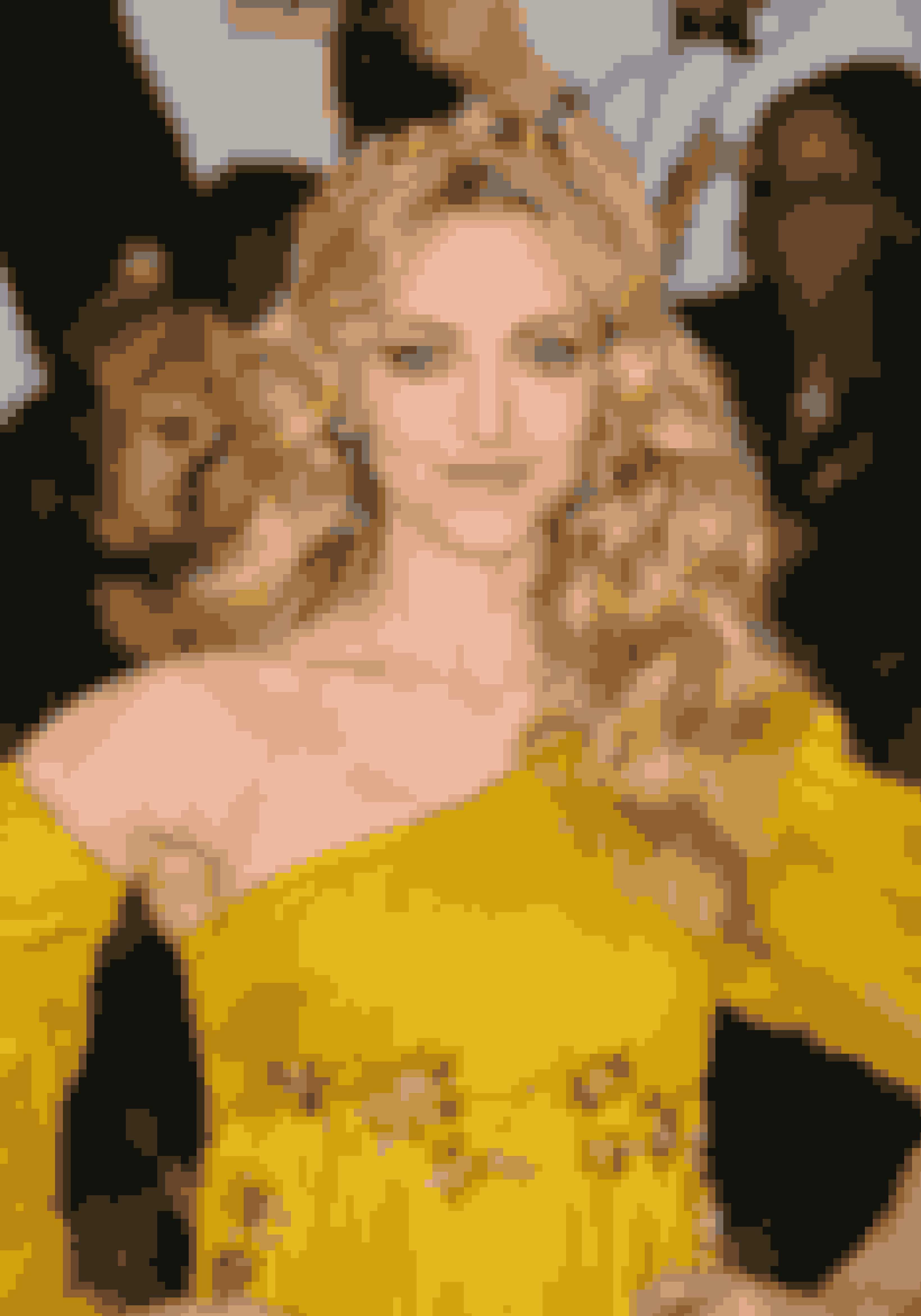 Amanda Seyfried så helt guddommelig ud i de gule-og guld farvede toner.