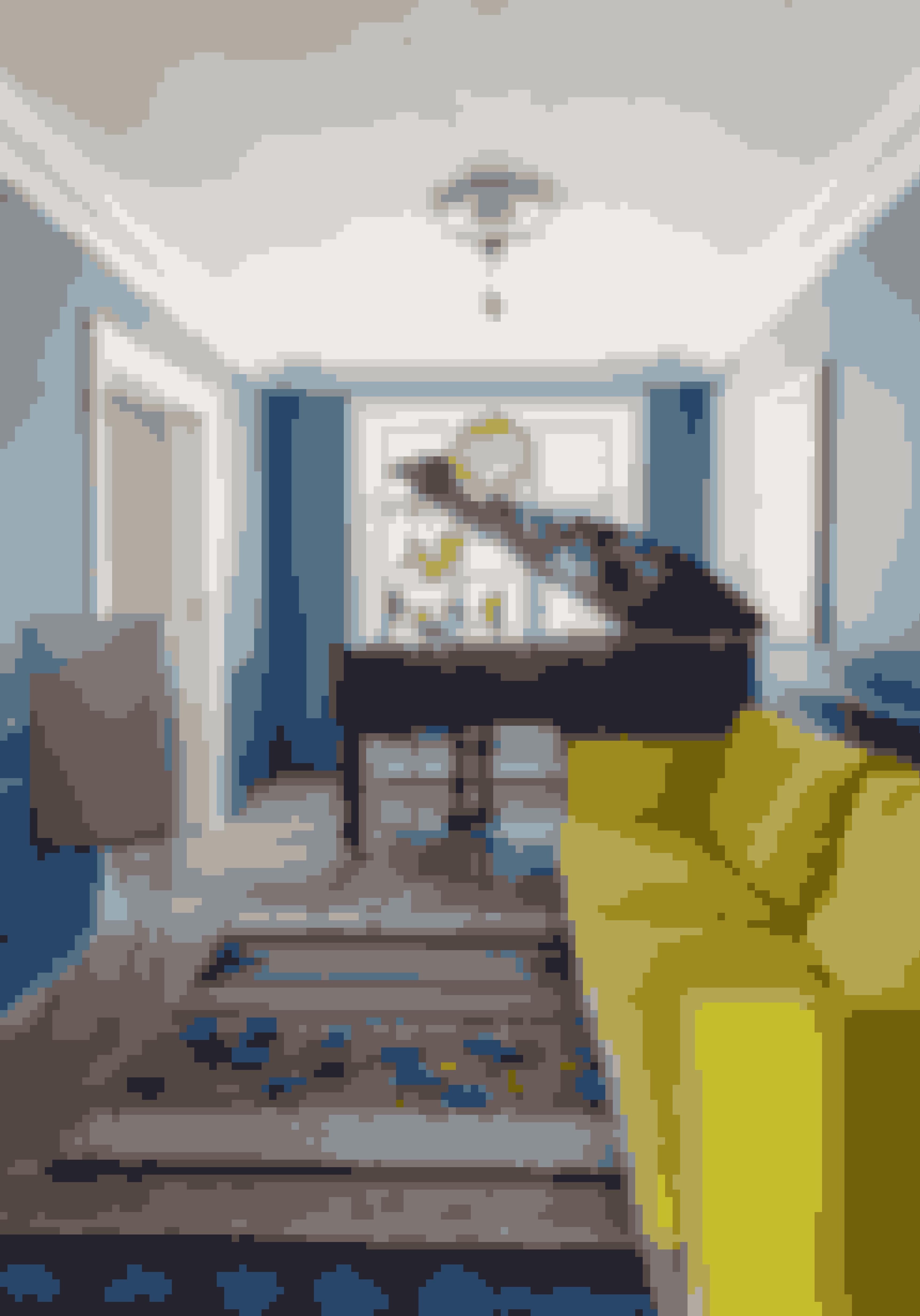 Er du modig nok til at vælge en gul sofa? Hvis du bruger farver som konsekvent indretningselement, så kan det sagtens lade sig gøre.
