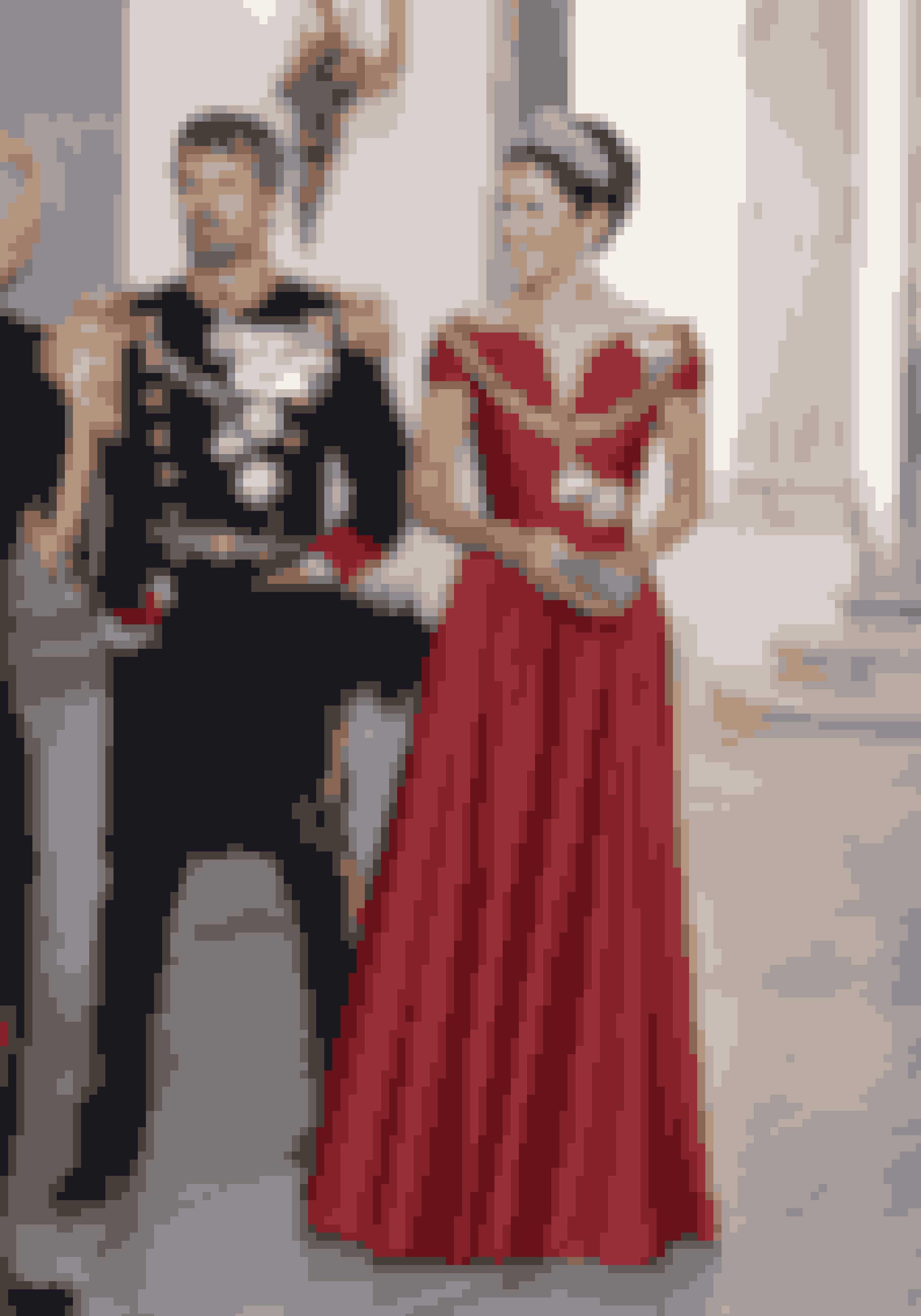 Kronprinsesse Mary i Søren Le Schmidt til Dronningens Nytårstaffel.