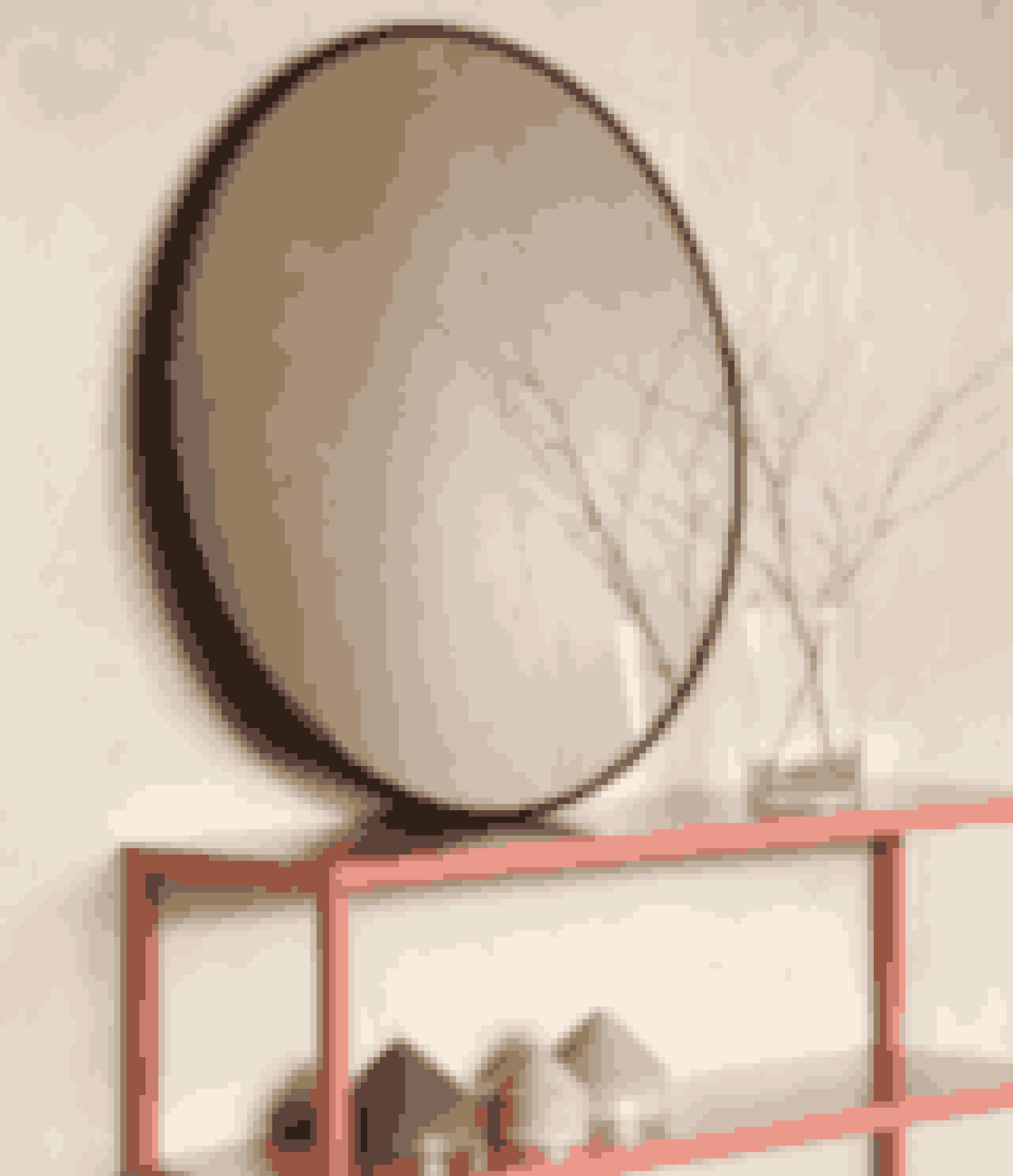 Spejl. Ø 70 cm, 198,00 kr.