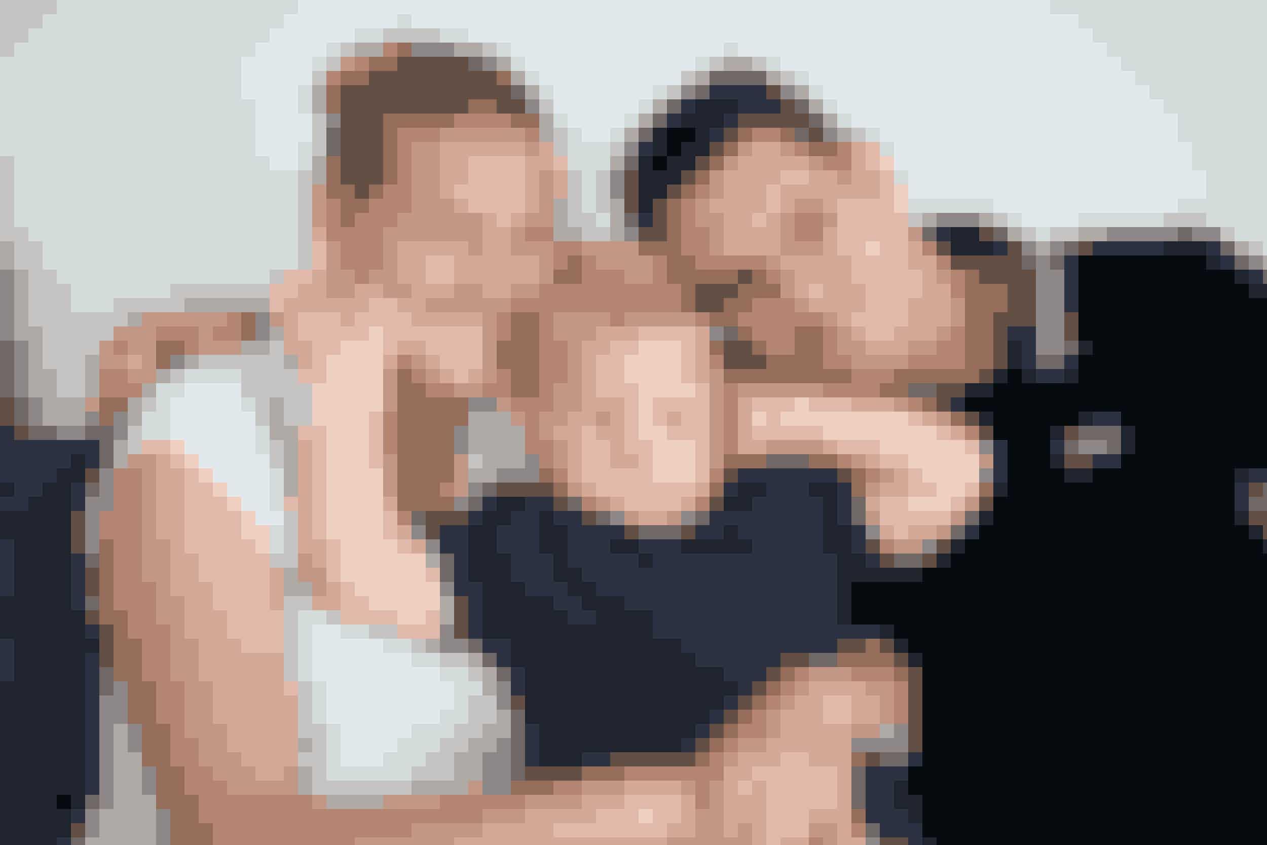 Magnus med sine forældre Rikke og Magnus