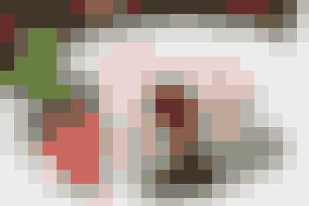 Skøn jordbæris serveret med jordbærkompot - se opskriften her