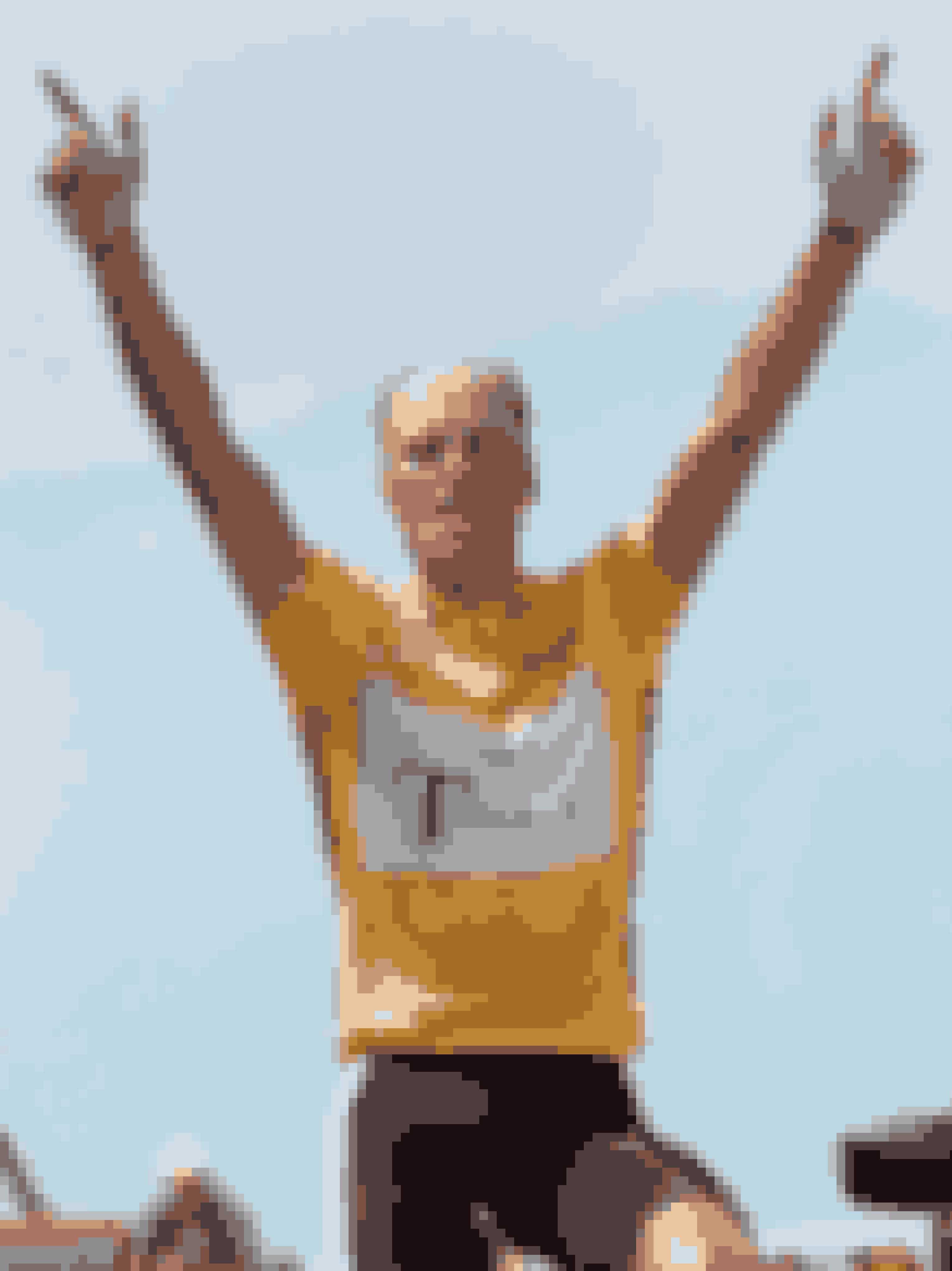 Bjarne Riis vandt den 16. etape mellem Agen og Lourdes-Hautacam under Tour de France i 1996 og blev dermed vinder af Tour de France. Foto: AP