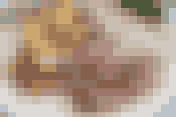 Oksefilet med sennepssauce  Af Pia Friis Andreassen/Foto: Martin Tanggaard    Superlækker weekendmad      4 pers.   Ingredienser til oksefilet med sennepssauce  Ca. 1,2 kg oksefilet, afpudset  2 spsk. grovkornet sennep  100 g finthakkede champignoner  2 spsk. grofthakkede kapers  1 spsk. olie og 1 spsk. smør  Salt og peber   Kold sennepssauce:  200 g cremefraiche 18 % rørt med 1½ spsk. grovkornet sennep samt 2 spsk. sød sennep og smagt til med salt og peber   Råstegte kartofler:  ¾ kg kartofler, skrællede og skåret i skiver 3-4 spsk. olie 1 stort, finthakket løg  400 g champignoner, rensede og i skiver  Salt og peber   PRØV OGSÅ: Cuvettesteg med kold bearnaisesauce   Fremgangsmåde Oksefilet:   Skær et snit på siden af stegen. Smør i snittet med sennep og fordel derpå champignoner og kapers i snittet. Luk kødet sammen om fyldet og hold det sammen med bomuldssnor. Brun stegen på alle sider i fedtstoffet og læg den i et ovnfast fad. Krydr med salt og peber. Hæld lidt vand i bunden af fadet og sæt stegen midt i en 220° varm ovn i ca. 40 min. Kødet er rosastegt, når stegens centrumtemperatur er 62°. Lad kødet hvile i 10 min.   Råstegte kartofler:   Dup kartoflerne tørre og steg dem i olien i ca. 20 min. Steg løg og champignoner med de sidste 5 min. Krydr med salt og peber.   Tilberedningstid:   Ca. 1 time, heraf arbejdstid ca. 35 min.   PRØV OGSÅ: Medaljoner af tyksteg og stegt tilbehør