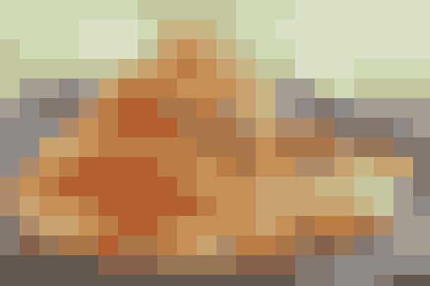 """Omelet med rejer og peberfrugt  Af Pia Friis Andreassen/Foto: Martin Tanggaard    Hvis du bare er til noget simpelt og nemt er omelet et oplagt bud på aftensmaden      4 pers.  Ingredienser til omelet med rejer og peberfrugt  10 æg  1 dl mælk  1 tsk. salt og ½ tsk. peber  125 g frisk mozzarella i skiver  400 g kutterrejer i lage  1 spsk. olie  1 finthakket fed hvidløg  1 klippet potte dild   Fyld:  300 g røde pebersnacks  1 stort hakket løg  2 spsk. olie   PRØV OGSÅ: Kødbollespyd med broccoli   Fremgangsmåde Fyld:   Flæk pebersnackene, fjern kerner og hinder og skær frugterne i tern. Sautér løget klart i olien. Skru en smule op for varmen og lad pebersnackene stege med i 3-4 min. Tag dem af panden.   Omelet:   Pisk æggene med mælk, salt og peber. Hæld æggemassen på en middelvarm pande. Fordel mozzarellaen ovenpå, inden æggemassen """"sætter sig"""" helt. Kom halvdelen af de stegte grøntsager over omeletten. Vip omeletten ud på et fad og fold den sammen, så der dannes en halvmåne. Bland de afdryppede rejer med resten af de stegte grøntsager, 1 spsk. olie, hvidløg og dildkviste. Krydr med salt og peber og kom blandingen oven på omeletten.   Tilberedningstid: Ca. 30 min., heraf arbejdstid ca. 15 min.  PRØV OGSÅ: Cowboytoast og salat"""