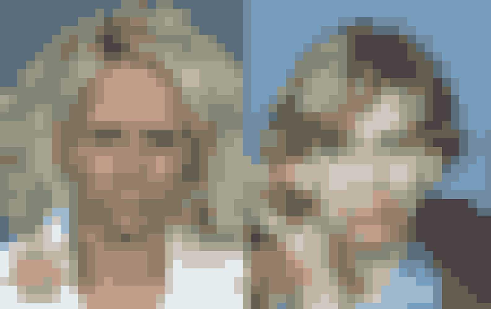 Denne kvinde var afhængig af kokain og heroin. Venstre foto er fra 2003, højre er fra 2007