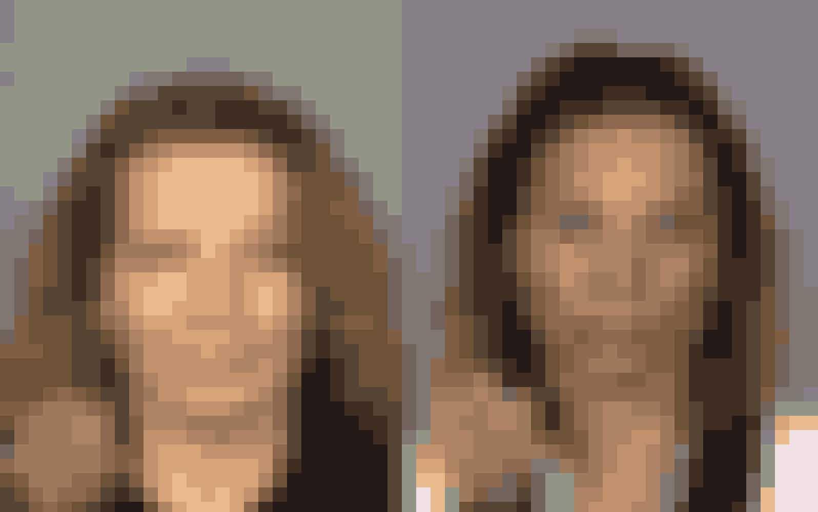 Denne kvinde var afhængig af metamfetamin. Venstre billede er fra 2007 og højre erfra 2008.
