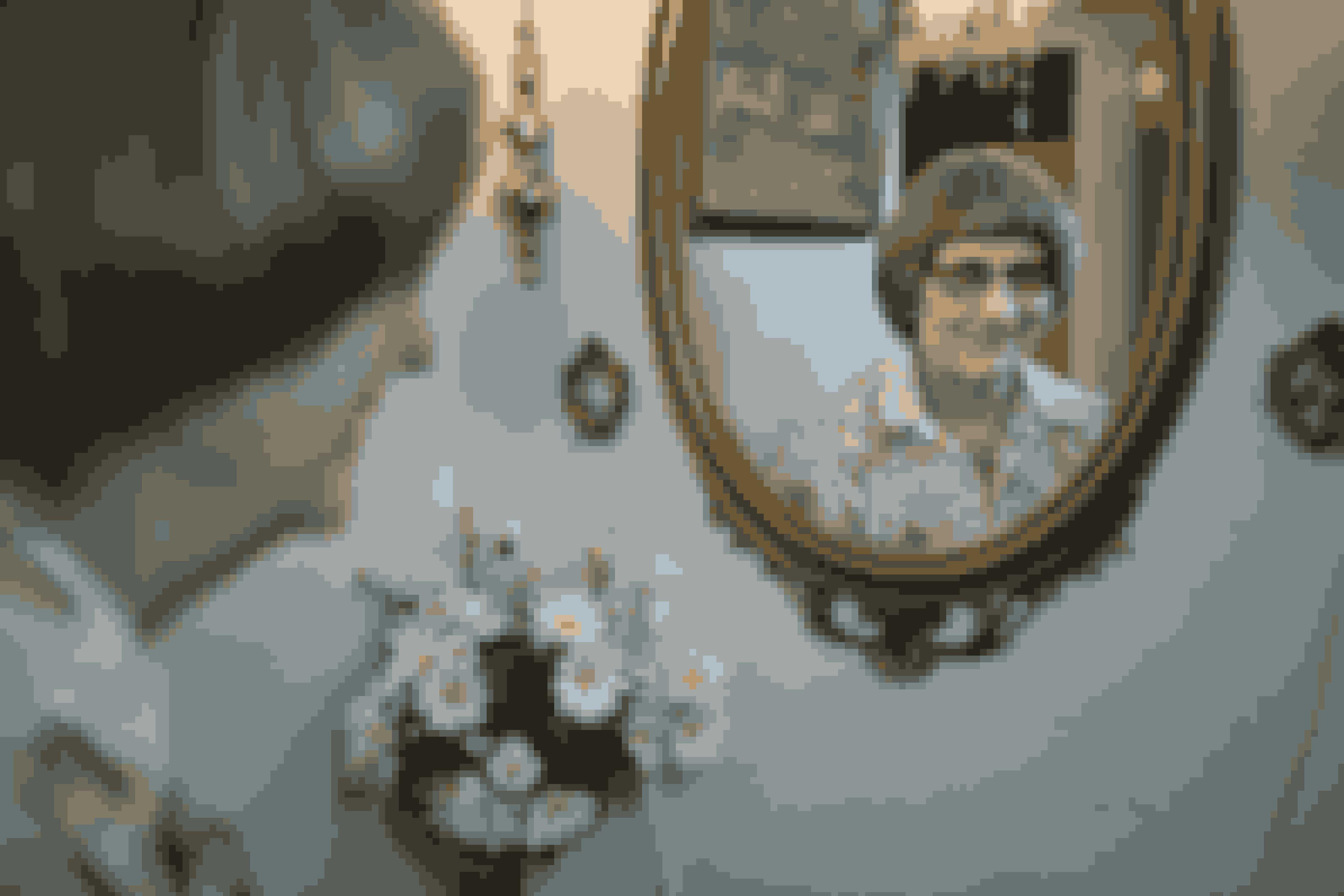 Lille spejl på væggen der. Jytte var mildt sagt overrasket, da hun så sig selv i spejlet efter 47 år som blind.
