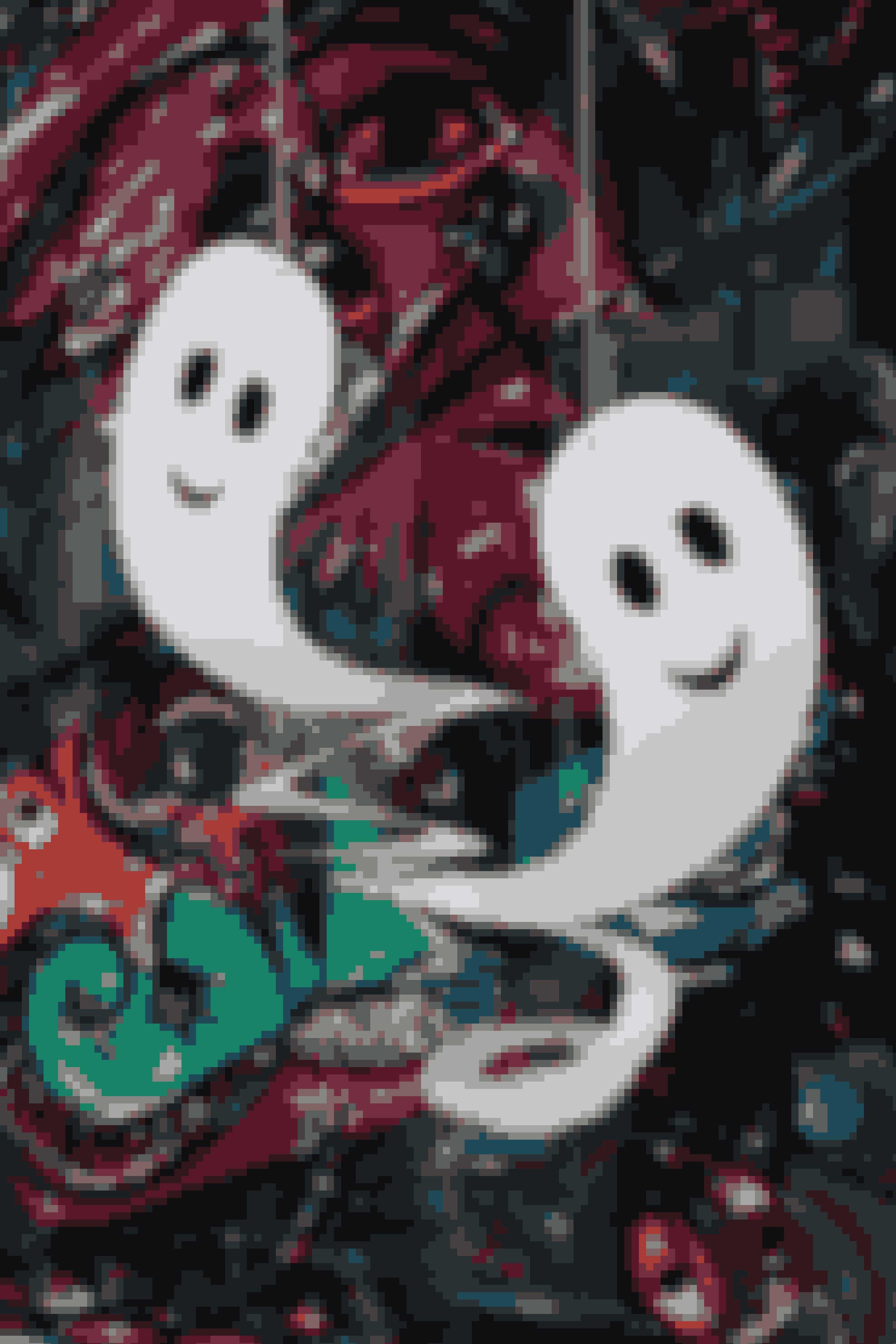 Søde spøgelser klippet i karton til halloween.