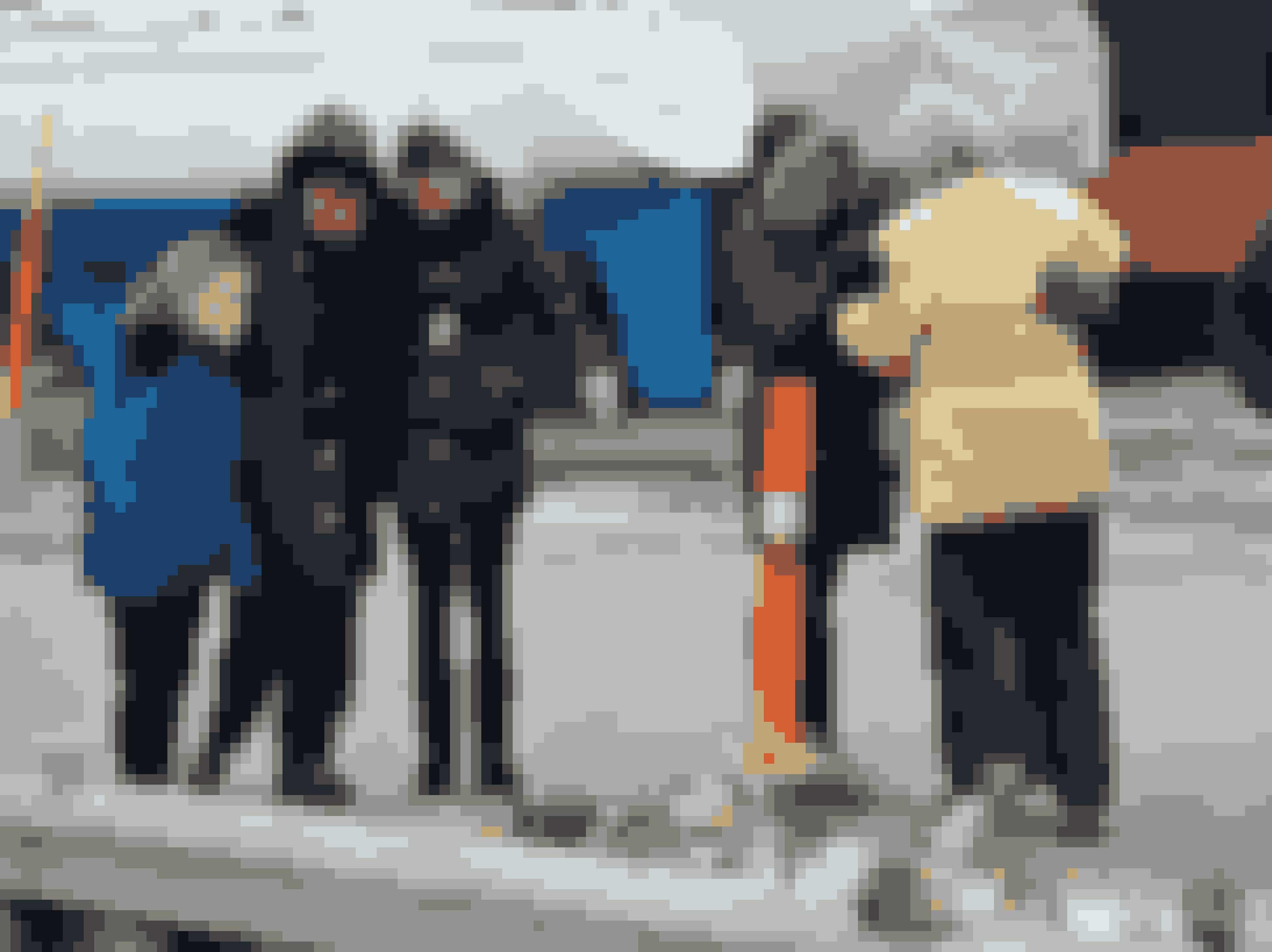 Drukneulykken i Præstø Fjord. Her er familien til de druknede samlet i sorg.