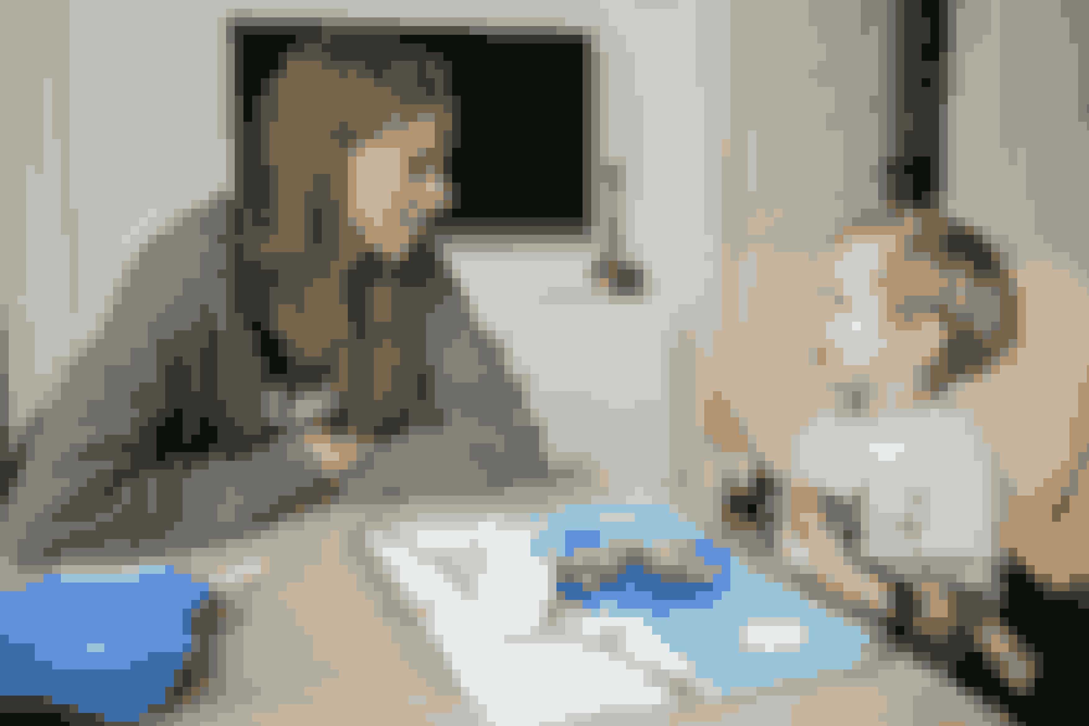 Sara og Tobias har altid rolige morgener, da Sara først træner om eftermiddagen.