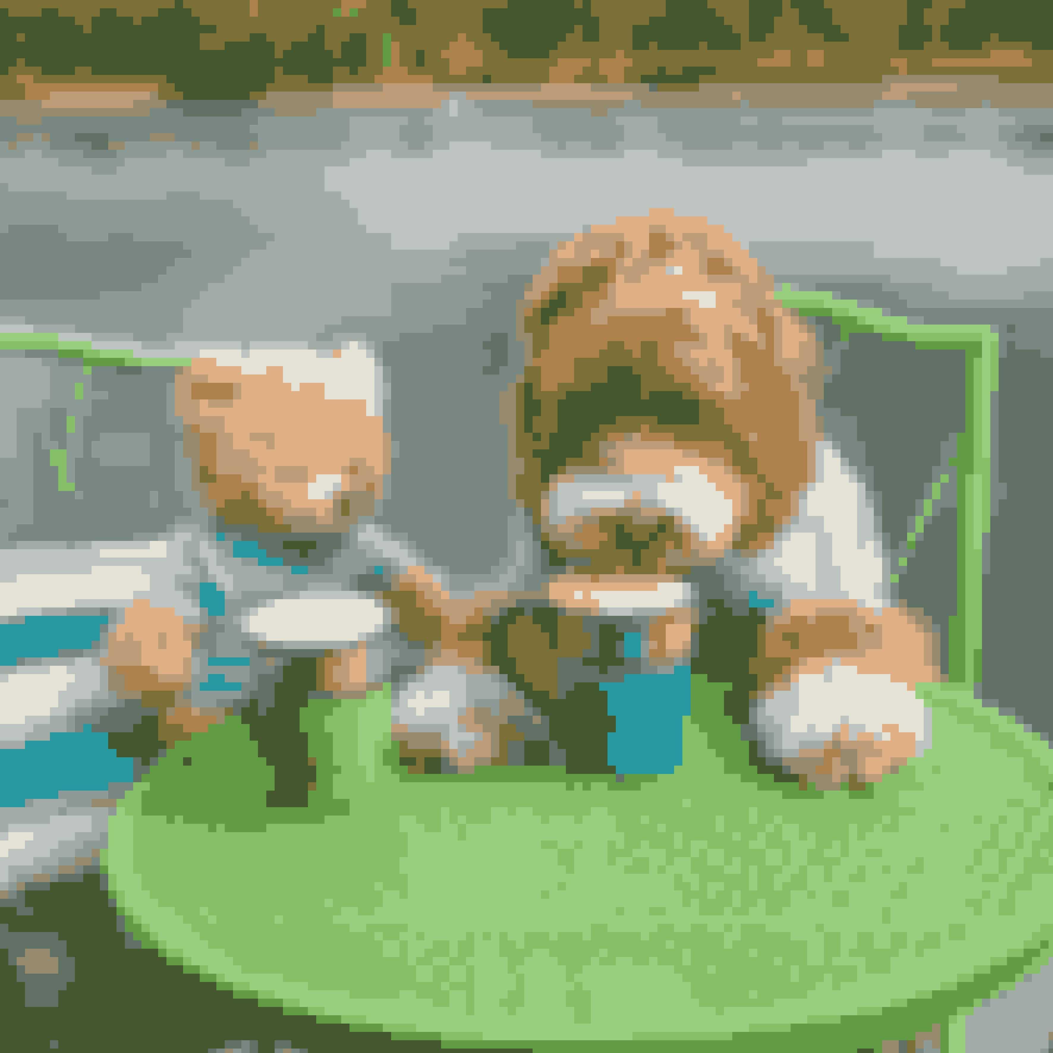 Inden parret fik børn, tog de billeder af Reagan alene eller med bamsen.