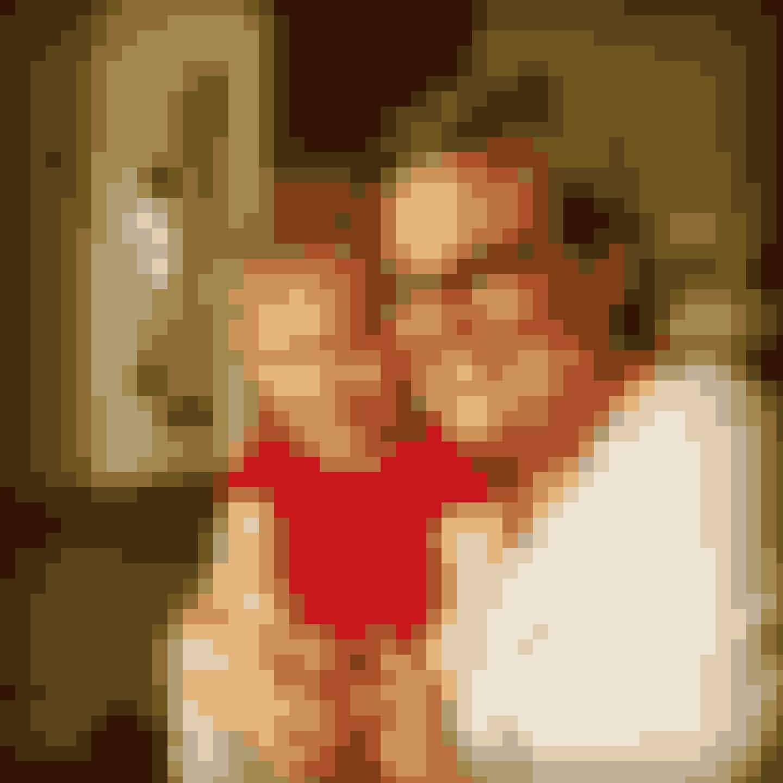 Louise vejede 130 kilo, da hun besluttede sig for at gøre noget ved det. Her er hun med datteren Nicoline.