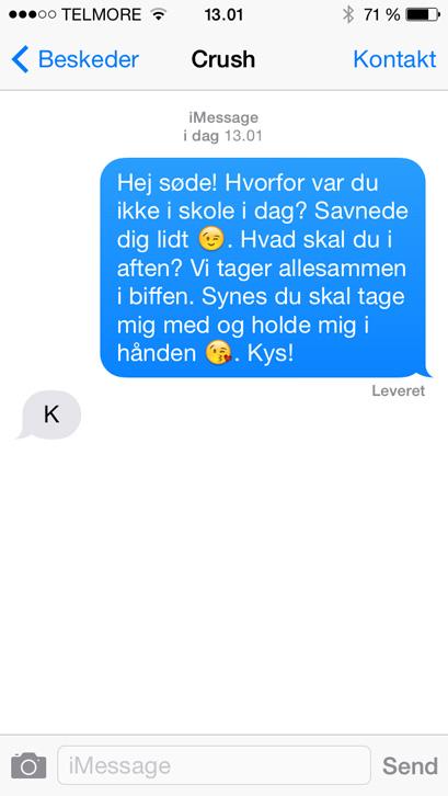 Sød sms til ham