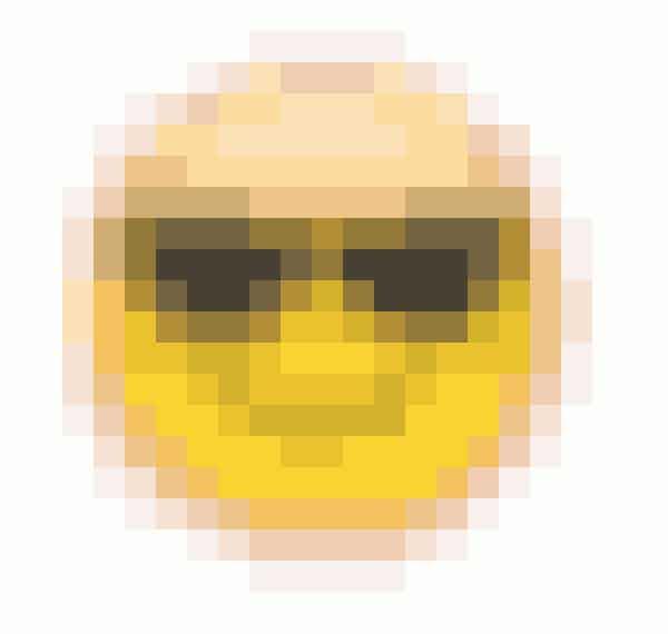 Smileyen med solbriller betyder, at en af dem, du snapper mest med, snapper denne person også meget med.