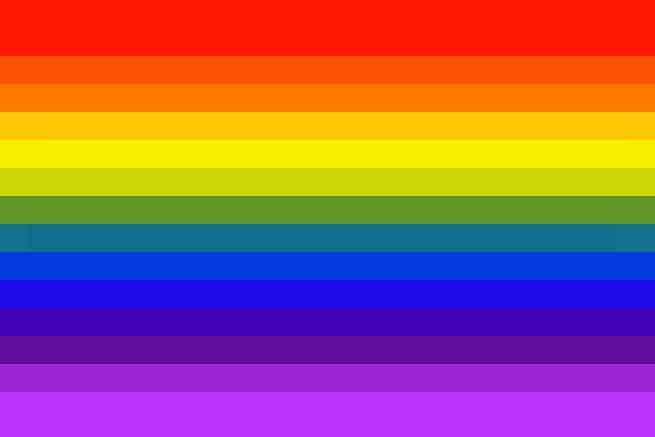 1978-1999 Pride-flag I 1978 blev Harvey Milk på tragisk vis myrdet af en af hans politiske modstandere, og herefter kom der en massiv efterspørgsel på et officielt Pride-flag, der hyldede alle LGBTQIA+-personer. Gilbert Baker stod endnu engang bag flaget, som han reducerede til syv farver, fordi den lyserøde farve var svær at få fat i.